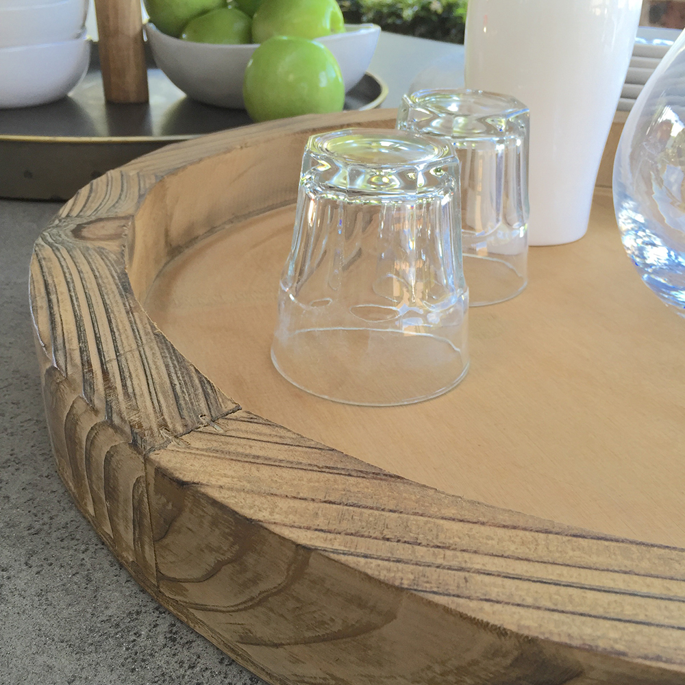Large Wooden Coffee Table Tray: Rustic Wooden Tray/Large Handle/Serving Coffee Table