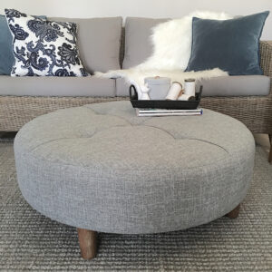 Round Fabric ottoman  coffee table