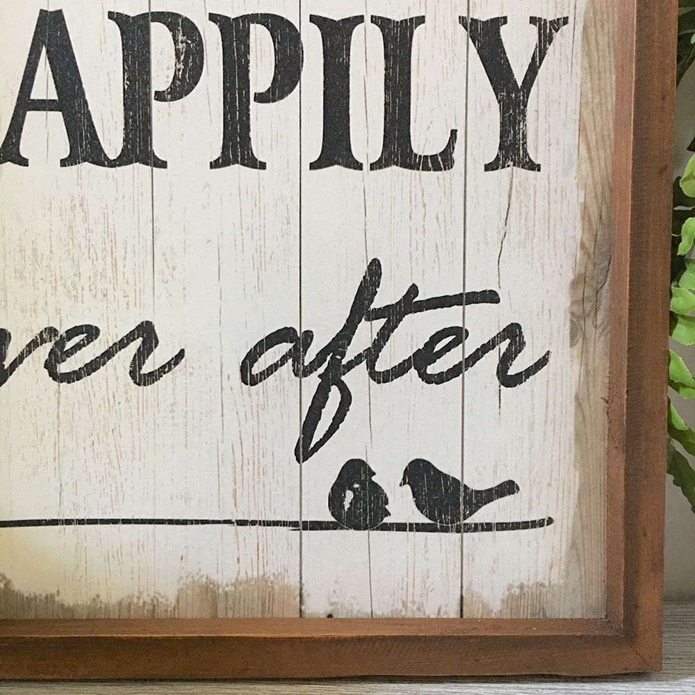 Happily Ever After Wall Sign - Humble Home