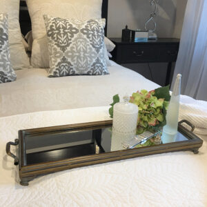 Rectangle Metal Tray with Handles