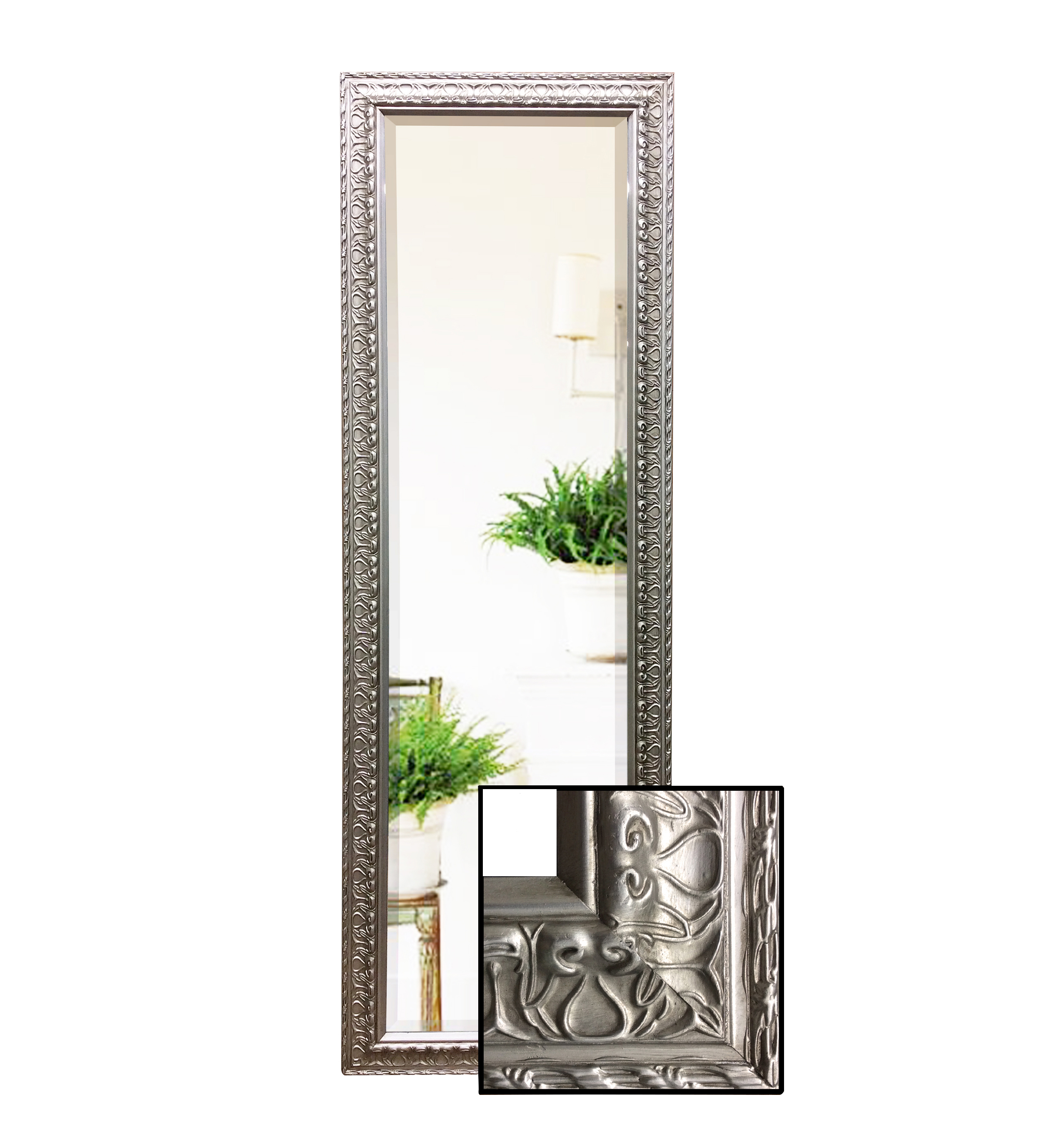 high quality silver full length mirror humble home