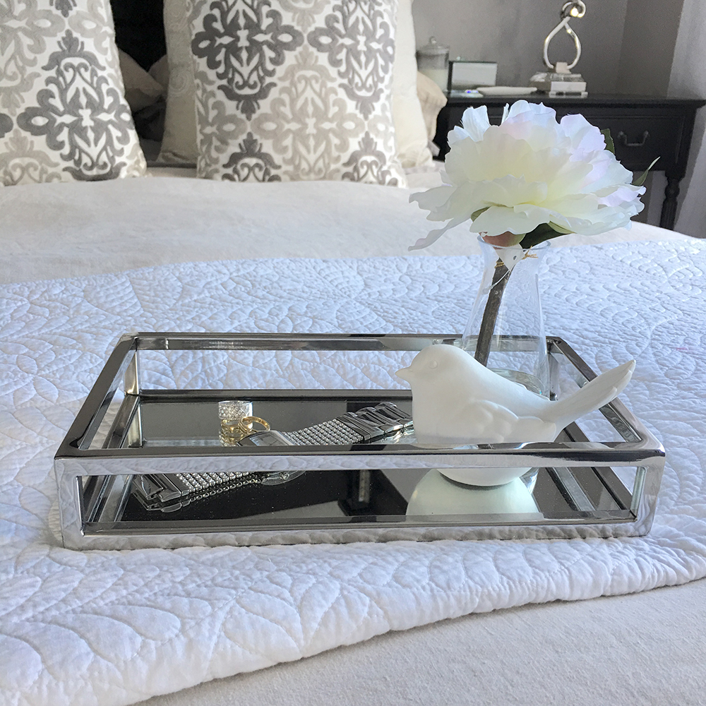 Ideal STUNNING Rectangular Silver Tray/Small/Mirror/Coffee Table Tray  SH16
