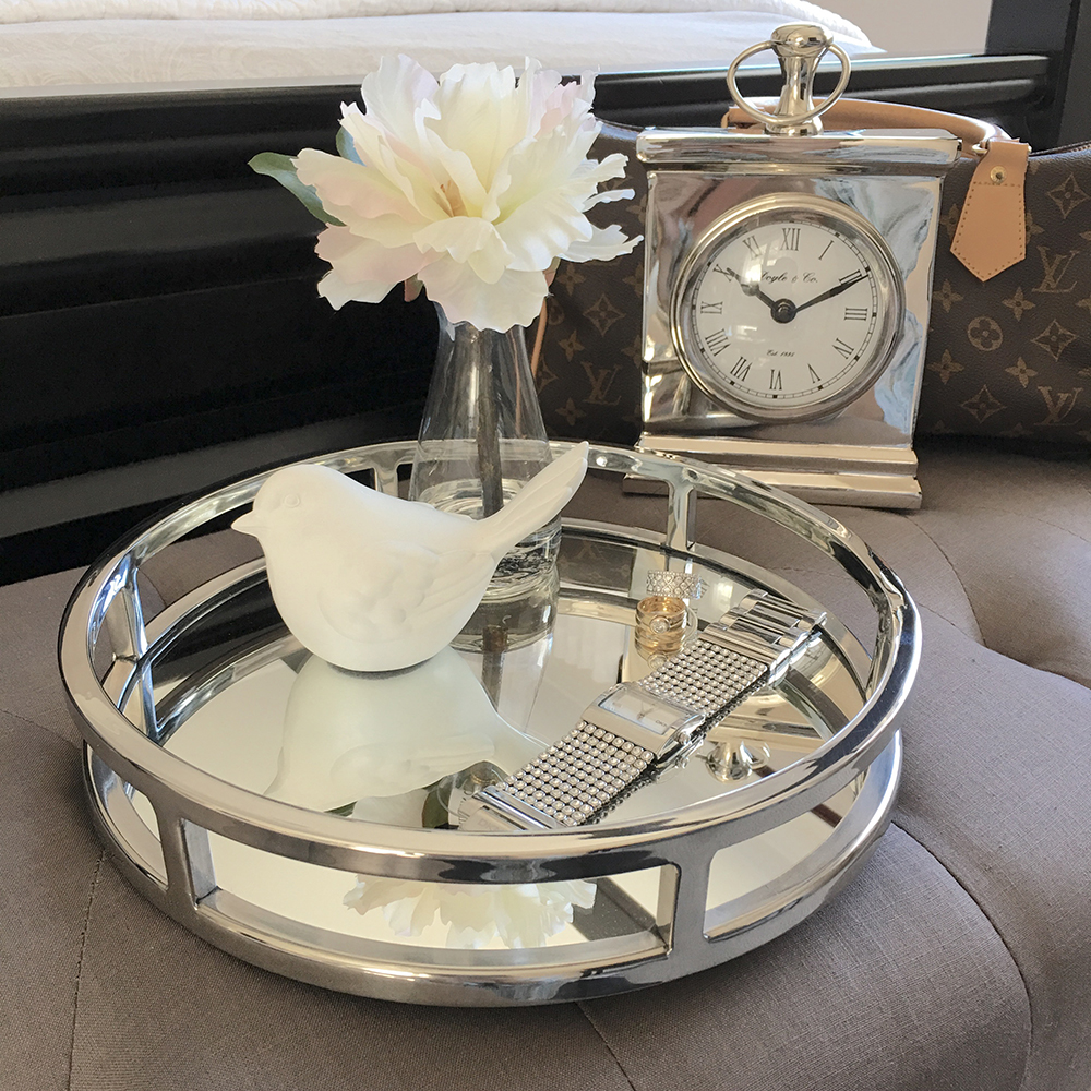 Round Silver Amp Mirror Tray Small Humble Home