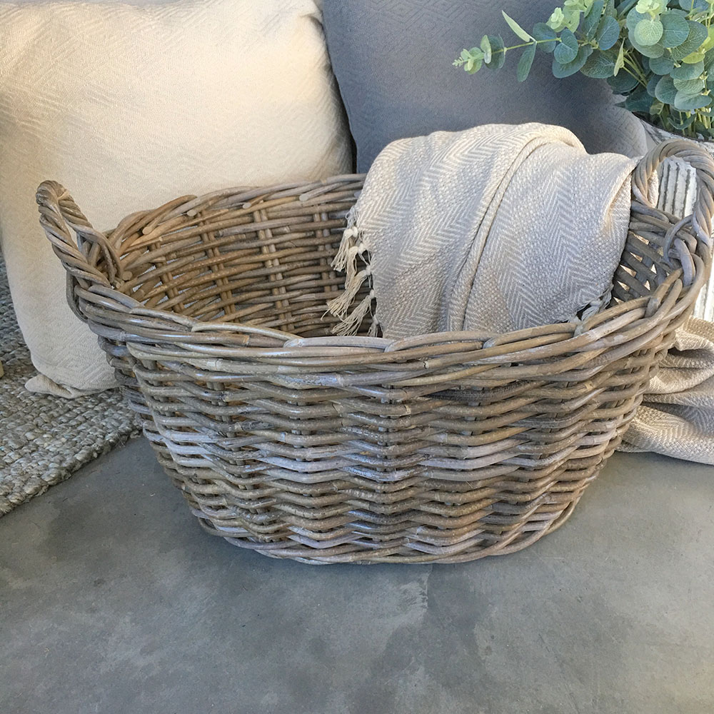 Oval Rattan Washing Basket