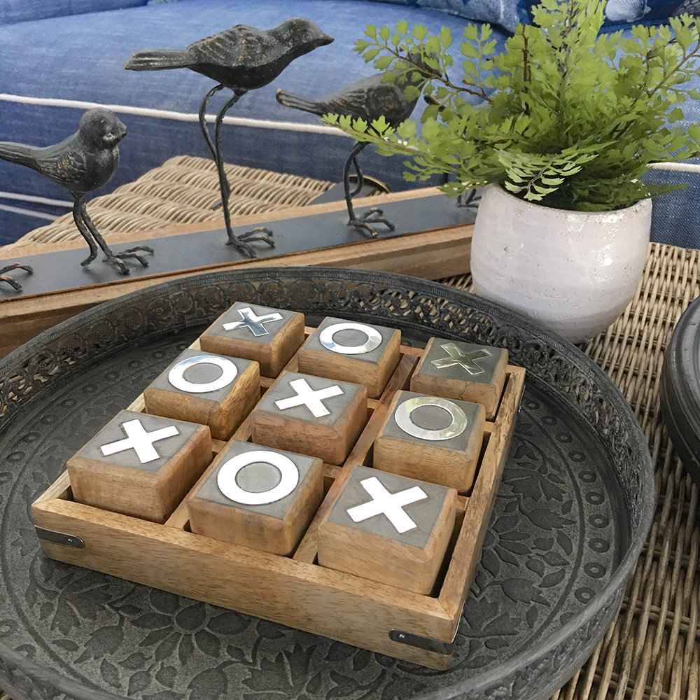 Wooden Noughts Amp Crosses Board Game Large Humble Home