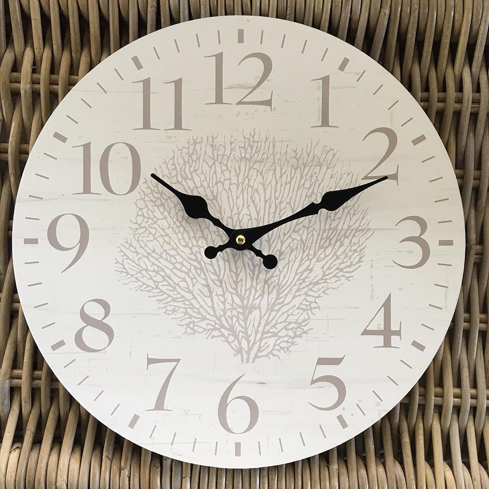 34cm Coral Wall Clock Humble Home