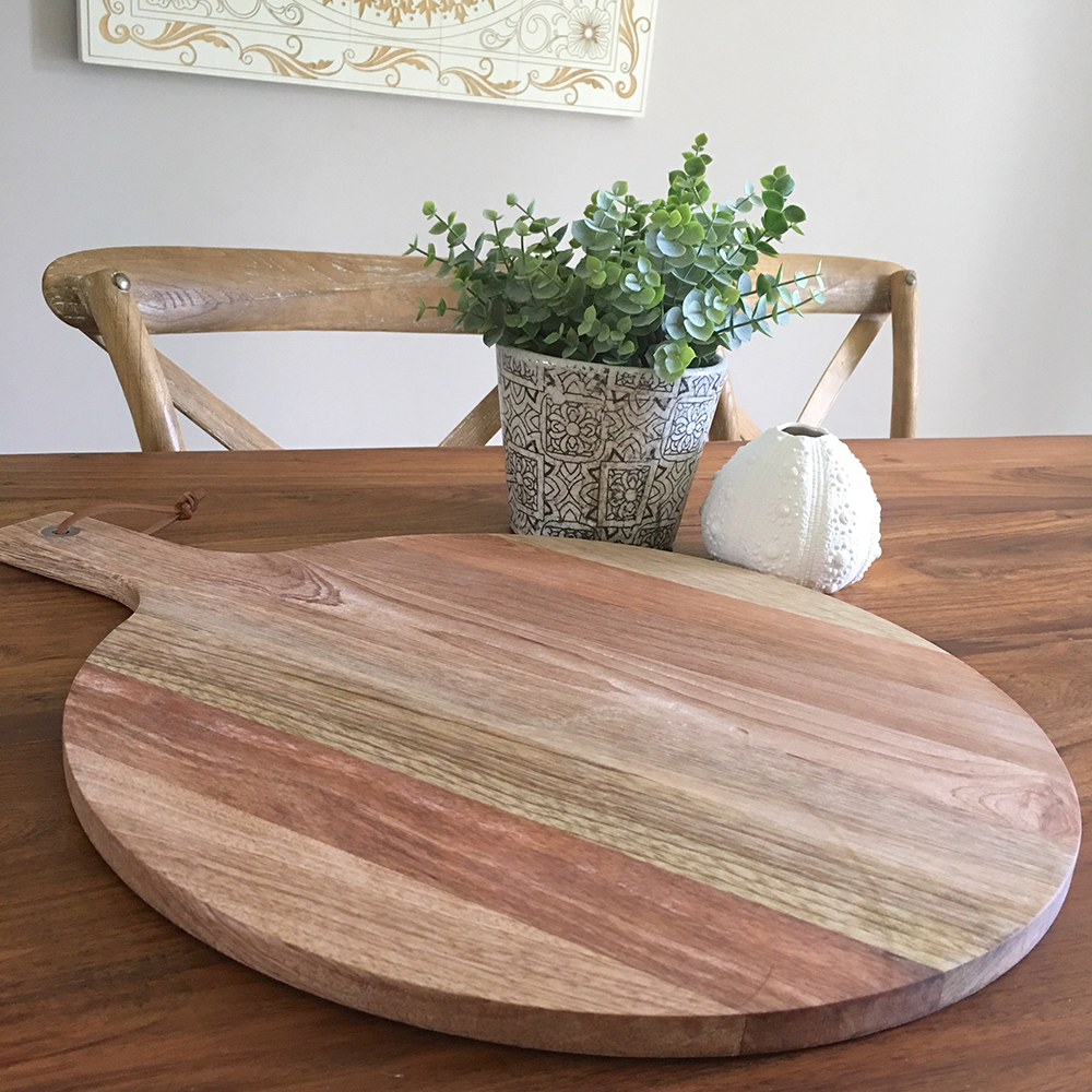 Round Acacia Wood Serving Board Humble Home