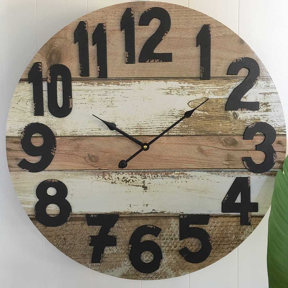 69e35dc8d0b Large 58cm Rustic Look Wall Clock - Humble Home