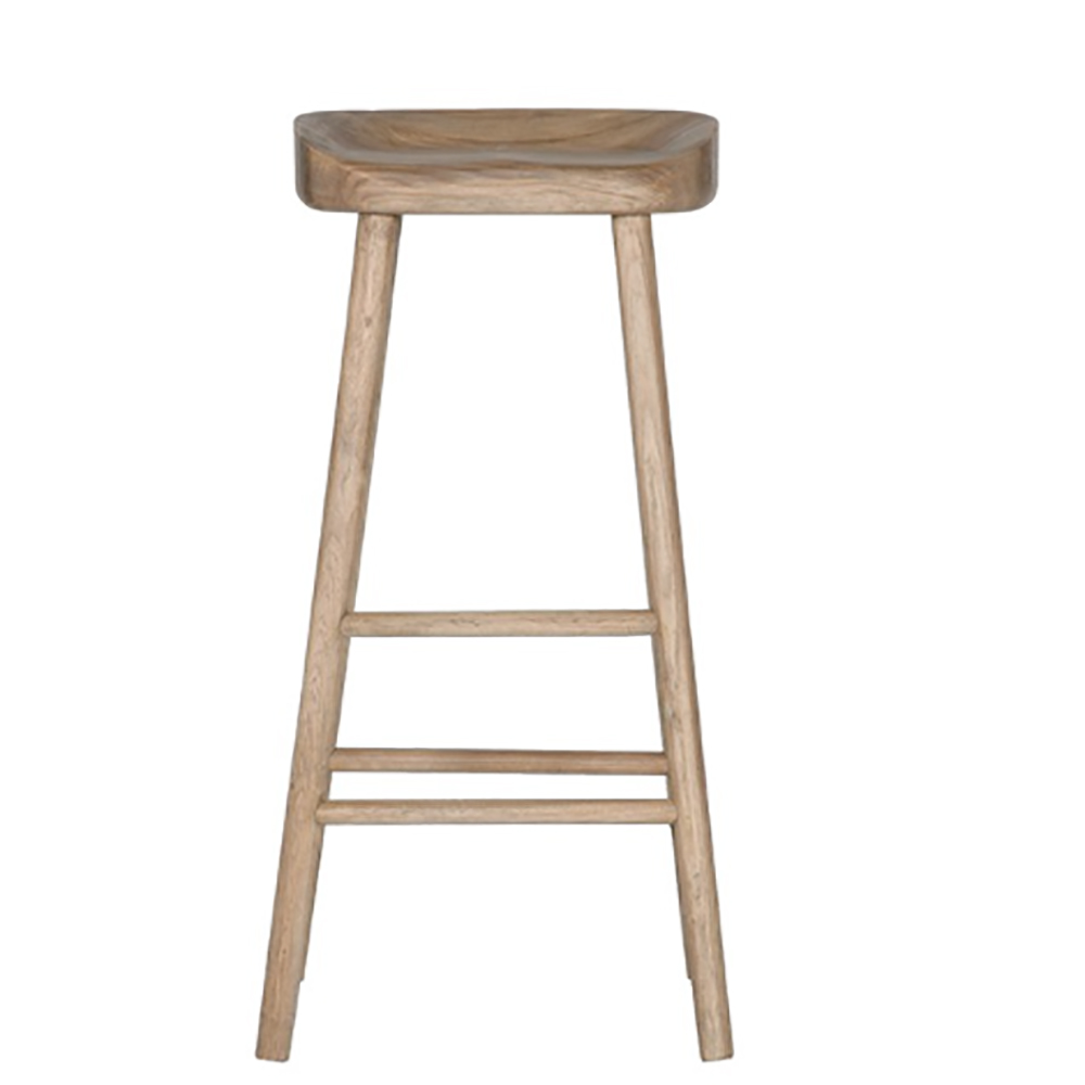 Solid Oak Barstool/Natural Timber/Kitchen Stool/Bar Stool/Coastal Hampton