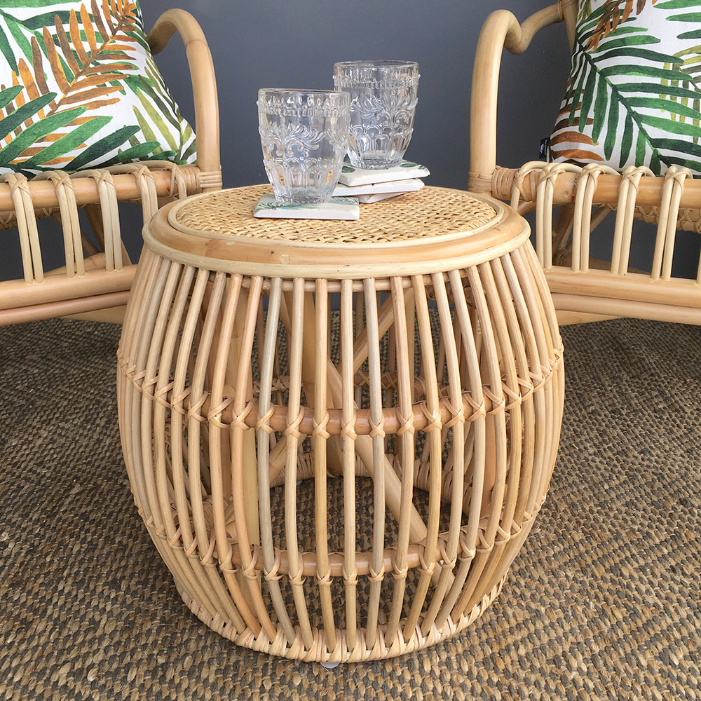 Rattan Side Table Natural Humble Home