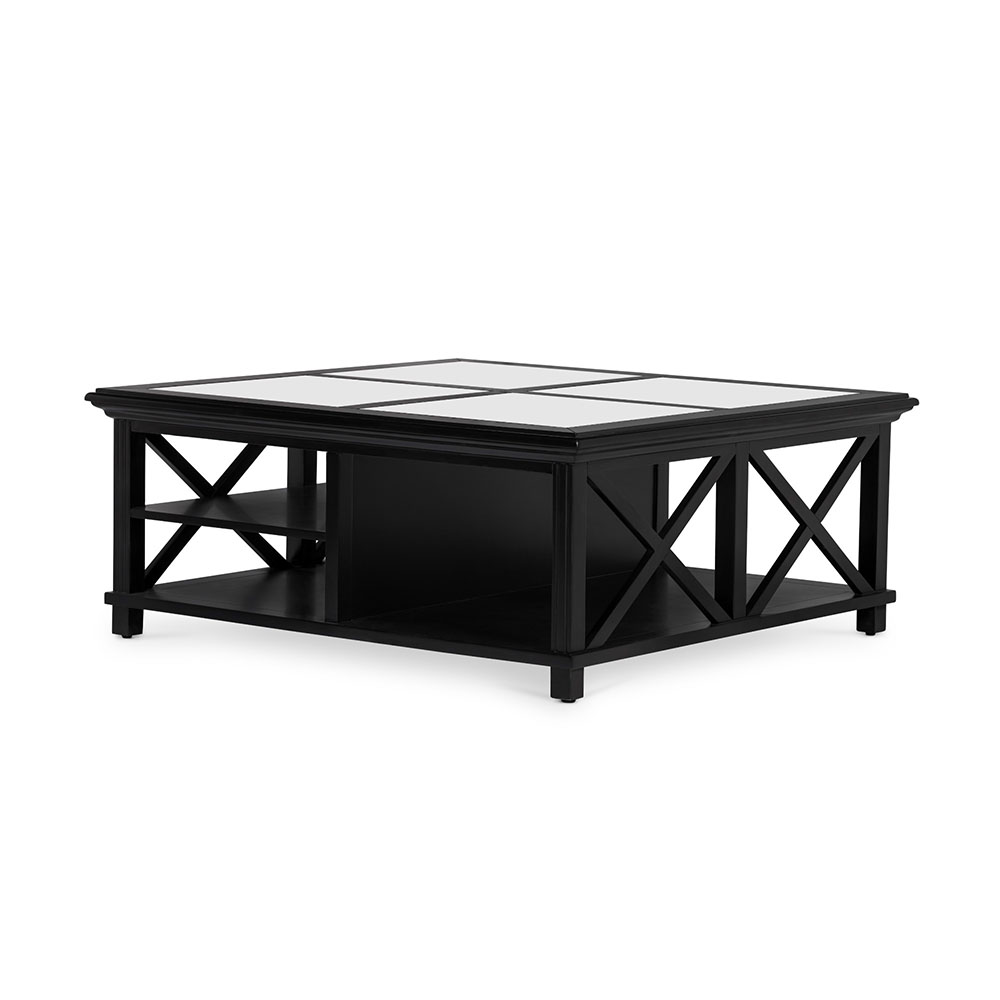 Groovy Highland Black Coffee Table Square Beutiful Home Inspiration Xortanetmahrainfo