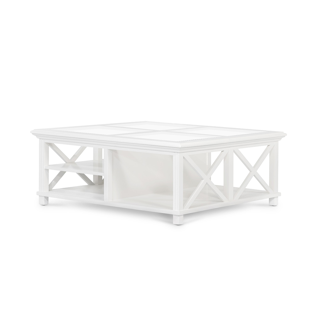 Highland White Coffee Table Square Humble Home
