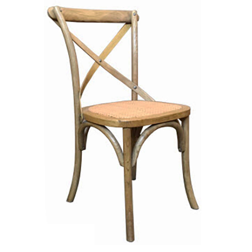 Cross Back Dining Chair Natural Humble Home