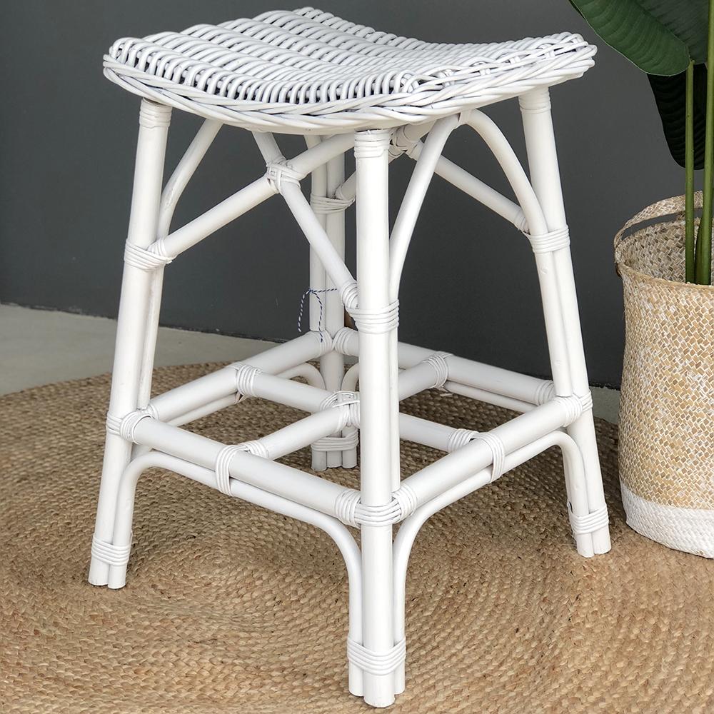 Wondrous Details About Ivy White Rattan Barstool Bar Stool Bar Chair Kitchen Stool Hamptons Coastal Ibusinesslaw Wood Chair Design Ideas Ibusinesslaworg