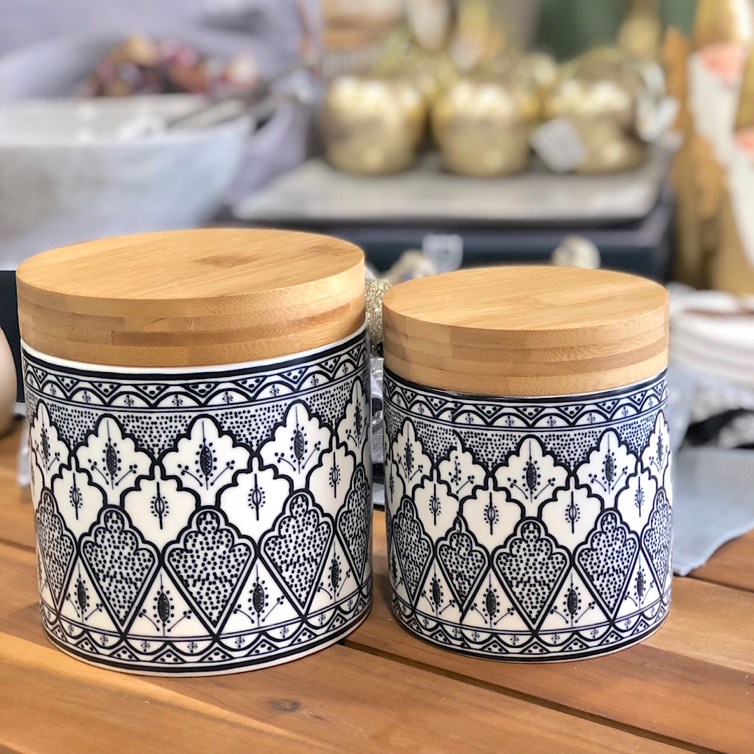 Lila Black White Canister Small Humble Home