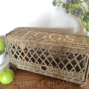 LARGE-Rattan-Egg-BasketStorage-BasketWickerFrench-ProvincialHamptons-141857881830