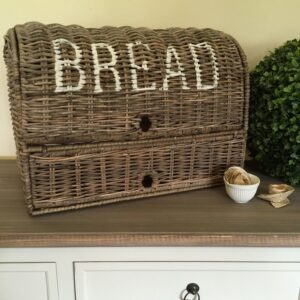 LARGE-Rattan-Bread-BasketStorage-BasketBinWickerFrench-ProvincialHamptons-141825016316