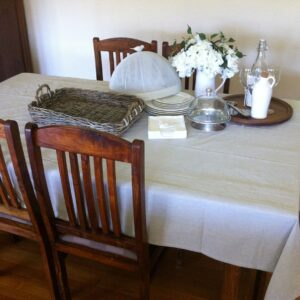 Superior-Quality-Ecru-LINEN-Tablecloth-100-Cotton-8-SeaterNatural-141883783737