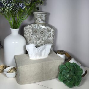 Rectangle Linen Tissue Box Slip Cover